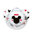 NUK dudlik Disney Mickey New, V2 (6 - 18 mesicu), 2 ks c