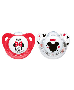 NUK dudlik Disney Minnie New, V1 (0 - 6 mesicu), 2 ks a