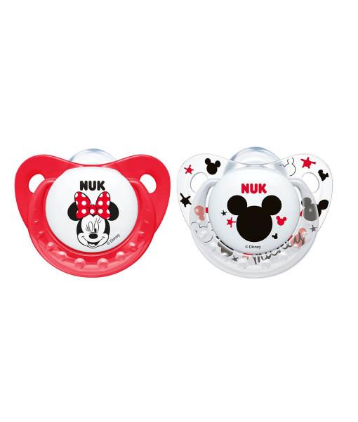 NUK dudlik Disney Minnie New, V2 (6 - 18 mesicu), 2 ks a