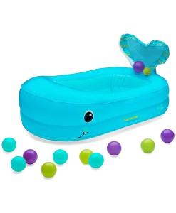 Infantino nafukovaci vanicka velryba s balonky a