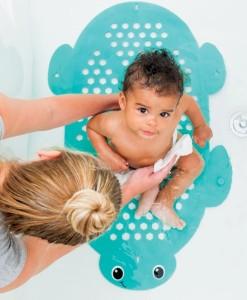 Infantino protiskluzova podlozka do vany a ulozny prostor na hracky 2v1 b