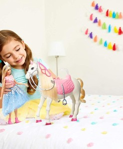 Mattel Barbie princezna a kun se svetly a zvuky b