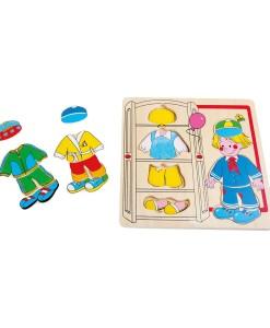 Legler drevene oblekaci puzzle chlapec a