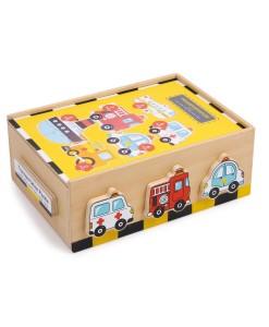 Legler drevene puzzle v boxu vozidla b