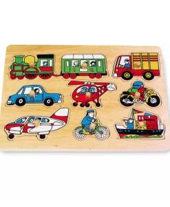 Legler drevene vkladaci puzzle doprava a