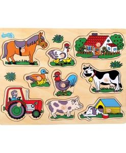 Legler drevene vkladaci puzzle farma a
