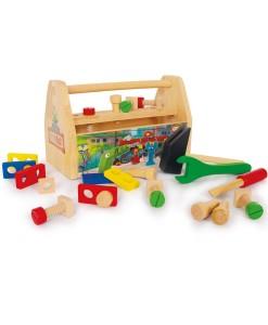 Legler dreveny pracovni box s naradim a