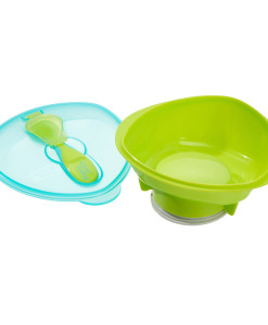 Vital Baby miska s prisavkou, lzickou a vickem (zelena) b